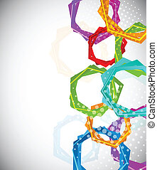 Abstract background with hexagon