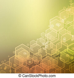abstract background with hexagon texture