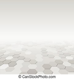 Abstract background with hexagon white shapes