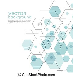 Abstract background with hexagons. Vector illustration