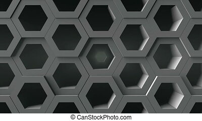 Abstract background with honeycomb. Digital backdrop