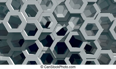 Abstract background with honeycomb. Technology backdrop