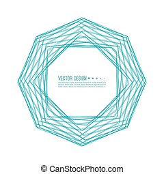 Abstract background with intersecting shapes.
