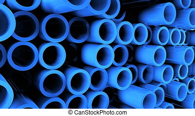 Abstract background with Iron pipes. 3d rendering