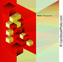 Abstract background with isometric