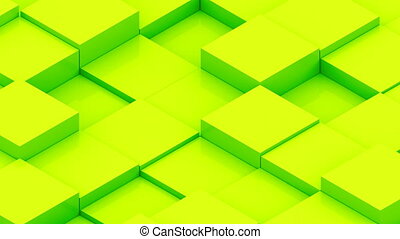Abstract background with isometric cubes. Seamless loop