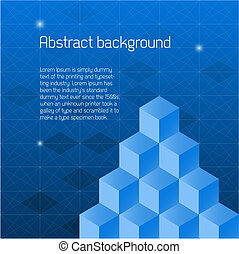 Abstract background with isometric cubes