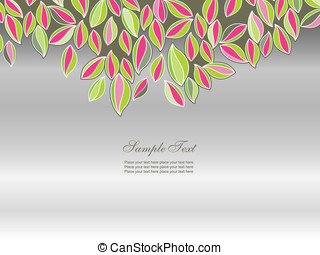 Abstract background with leaves