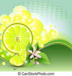 Abstract background with lemon - Abstract background with...