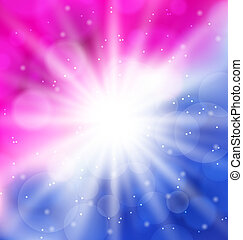 Abstract background with lens flare