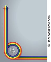 Abstract background with lgbt symbol and ribbon