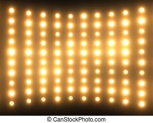 Abstract background with light bulbs