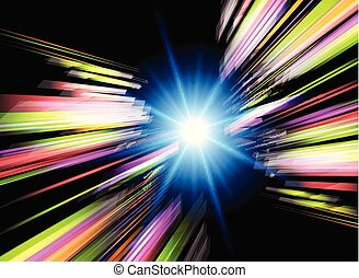 Abstract background  with  light burst.