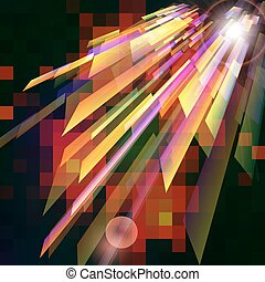 Abstract background  with light effect.
