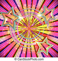 Abstract background with Light rays and stars.