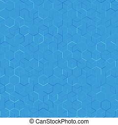 abstract background with lines. blue hexagonal pattern