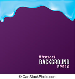 Abstract background with liquid frame.
