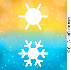 Abstract background with logo of symbol climate balance -...