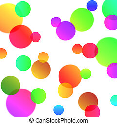 abstract background with magic bubbles