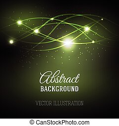 Abstract background with magic light.