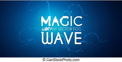 stract background with maic waves and swirls. Flowing fog.