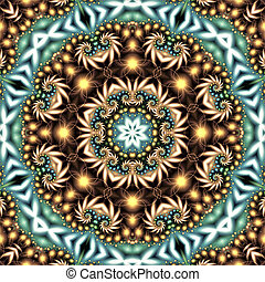 abstract background with mandala consisting of fractal spirals
