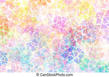 Abstract background with mixed chaotic different shapes -...