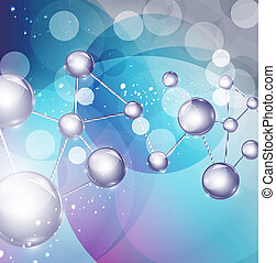 abstract background with molecules