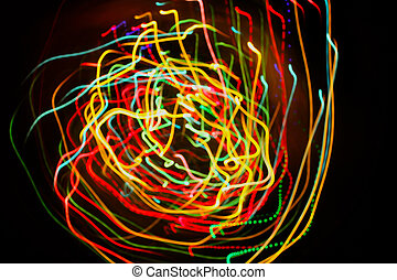 Abstract background with motion glowing lights lines