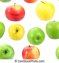 Abstract background with motley fresh apples