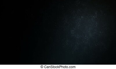 Abstract background with moving and flicker particles. On...