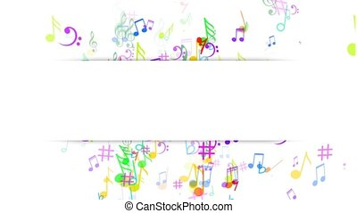 Abstract Background with Music notes. The label notes