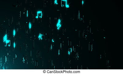Abstract background with musical notes