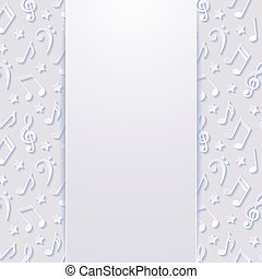Abstract background with musical notes. Vector illustration.