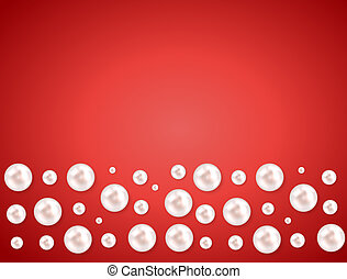 Abstract background with natural pearl garlands of beads. ...