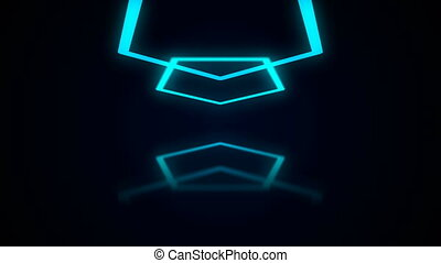 Abstract background with neon polygon