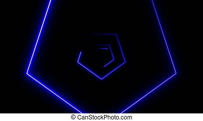 Abstract background with neon polygons