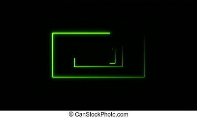 Abstract background with neon rectangles. Seamless loop