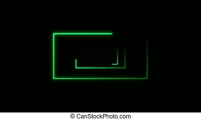 Abstract background with neon rectangles