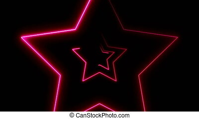 Abstract background with neon stars