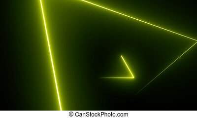 Abstract background with neon triangles
