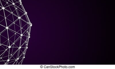 Abstract background with network surface