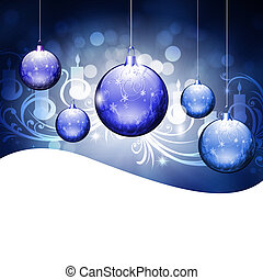 Abstract background with New Year's toys