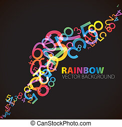 Abstract background with numbers - Abstract background with...