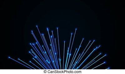 Abstract background with optical fibers. 3d rendering
