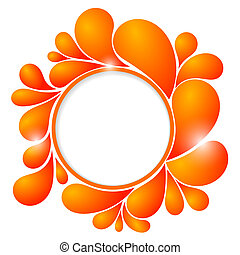 Abstract background with orange bubbles