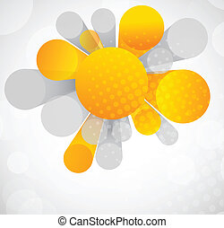 Abstract background with orange circles