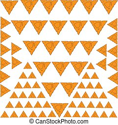 abstract background with orange triangles pattern symbol ornament