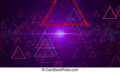 Abstract background with outline triangles