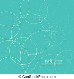 Abstract background with overlapping circles